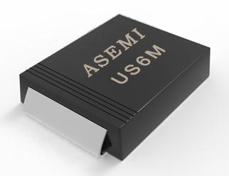 【US6M-SMC】US6MC/US6DC/US6GC/US6JC/US6MC ASEMI高效恢复二极管
