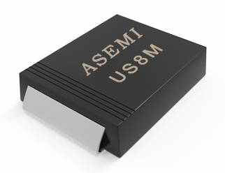 【US8M-SMC】US8MC/US8DC/US8GC/US8JC/US8MC ASEMI高效恢复二极管