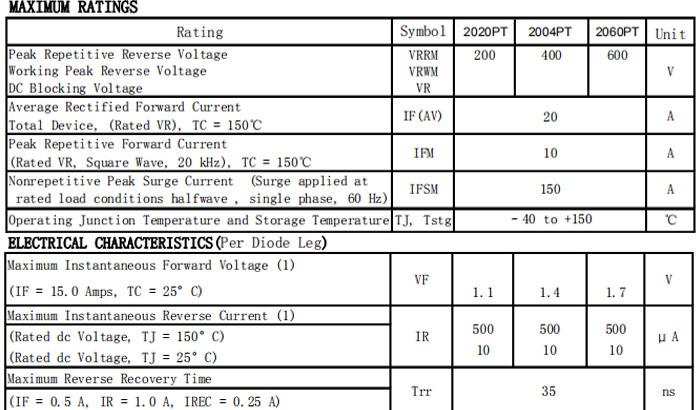 MUR2060PT-规格书